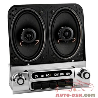 Antique Automobile Radio 152314BT - AM/FM Factory Style Radio with Bluetooth and Speakers