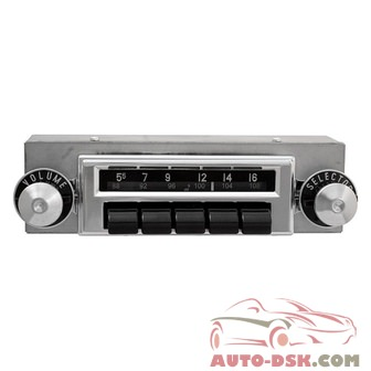 Antique Automobile Radio 283302BT - AM/FM Factory Style Radio with Bluetooth and Black Pushbuttons
