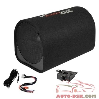 Audiopipe APDX10A - 10in AP-DX Series Ported Powered 500W Subwoofer Tube