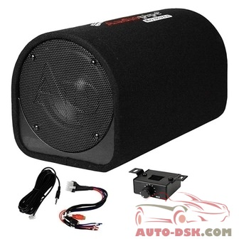 Audiopipe APDX8A - 8in AP-DX Series Ported Powered 400W Subwoofer Tube