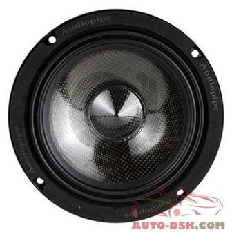 Audiopipe APMB6CF - 6in Carbon Fiber Series 250W Midrange Speaker