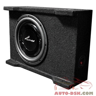 Audiopipe APSB10BDF - 10in APSB Series Shallow Mount Sealed Passive 400W Subwoofer Enclosure