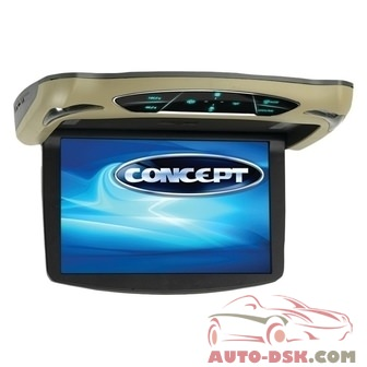 Concept CFM-135 - 13.3in Flip Down LCD Monitor with Built-In DVD Player and 3 Housing Options