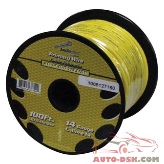Audiopipe AP14100YW - 14 Gauge 100 Yellow Primary Wire